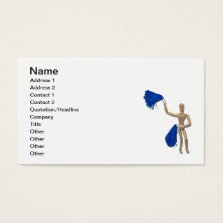 Cheerleader que acena Pom Poms Cartão De Visitas