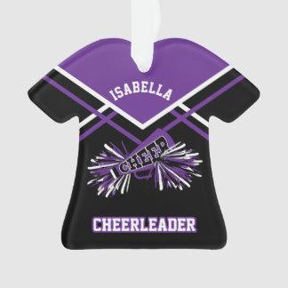 Cheerleader roxo e preto ornamento