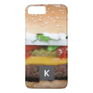 cheeseburger delicioso com fotografia das capa iPhone 7 plus