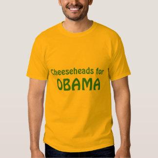 Cheeseheads para o tshirt de Obama