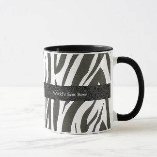 """Chefe:  Do """"A zebra do melhor chefe mundo"""" listra"""