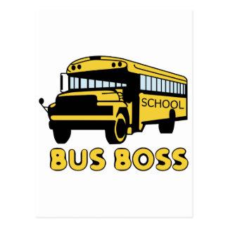 Chefe do ônibus cartão postal