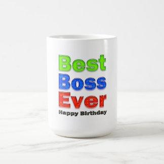 Chefe do presente de aniversário do chefe o melhor caneca