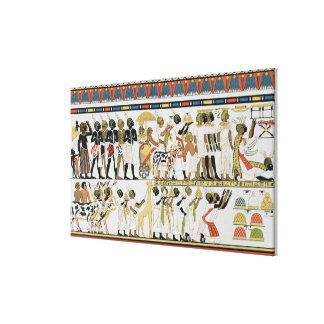 Chefes de Nubian que trazem presentes Impressão Em Tela