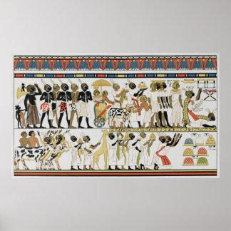 Chefes de Nubian que trazem presentes Poster