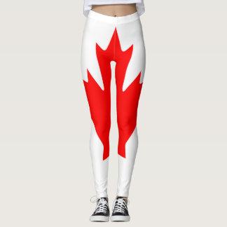 Cheio da bandeira de Canadá Leggings