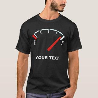 Cheio do tanque de gás do calibre de camiseta
