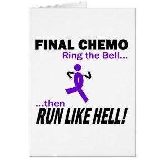 Chemo final funciona muito - a fita violeta cartão comemorativo