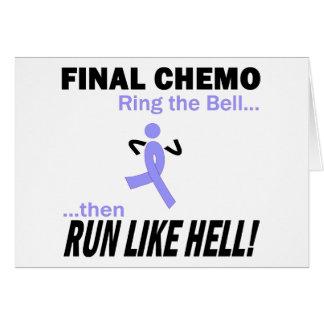 Chemo final funciona muito - cancer de estômago cartão comemorativo