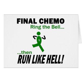 Chemo final funciona muito - câncer de figado cartão comemorativo