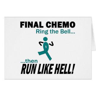 Chemo final funciona muito - câncer de ovário cartão comemorativo