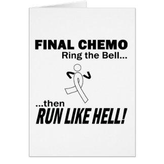 Chemo final funciona muito - câncer pulmonar cartão comemorativo