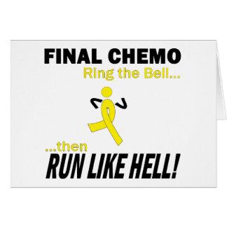 Chemo final funciona muito - cancer Testicular Cartão Comemorativo