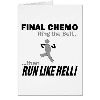 Chemo final funciona muito - cancro cerebral/tumor cartão comemorativo
