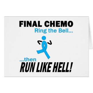 Chemo final funciona muito - cancro da próstata cartão comemorativo