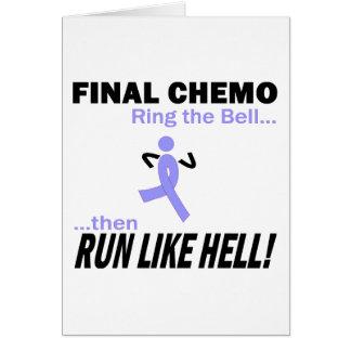 Chemo final funciona muito - fita da lavanda cartão