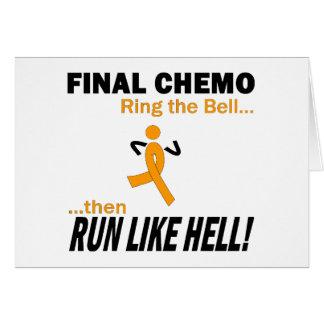 Chemo final funciona muito - leucemia cartão comemorativo