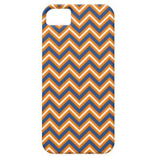 Chevron - alaranjado, azul, e branco capa para iPhone 5