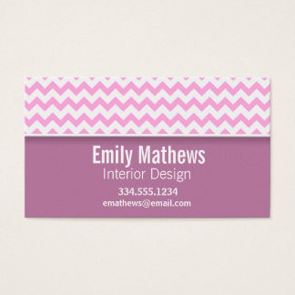 Chevron cor-de-rosa bonito cartão de visitas