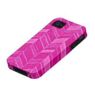 Chevron cor-de-rosa de néon feminino capa para iPhone 4/4S