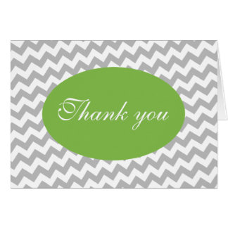 Chevron e luz cinzentos - cartões de agradecimento