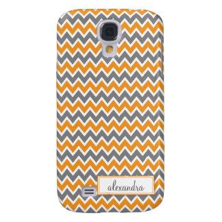 Chevron Pern (alaranjado) Galaxy S4 Case