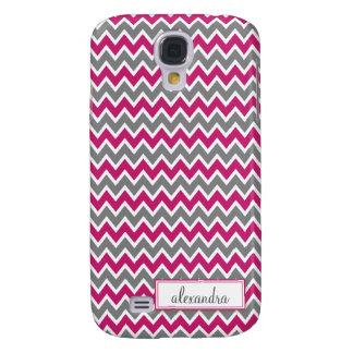 Chevron Pern (fúcsia) Galaxy S4 Covers