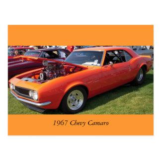 Chevy 1967 Camaro Cartão Postal