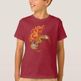 Chibi Kaius o jogo, guardião do fogo, t-shirt do