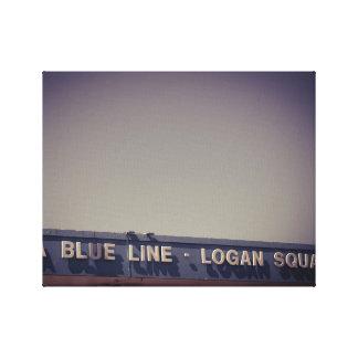 Chicago CTA Blue Line Impressão Em Tela