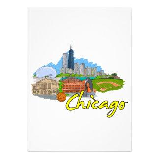 Chicago - Illinois - os Estados Unidos da América  Convite Personalizado