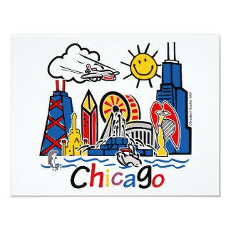 Chicago-MIÚDOS [convertidos] Convite 10.79 X 13.97cm