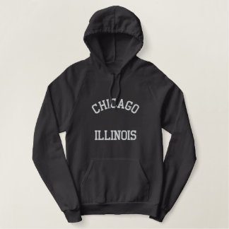 Chicago Moletom Com Capuz Pulôver Bordado