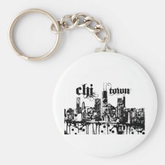 """Chicago """"qui-cidade"""" pôr sobre para sua cidade chaveiro"""