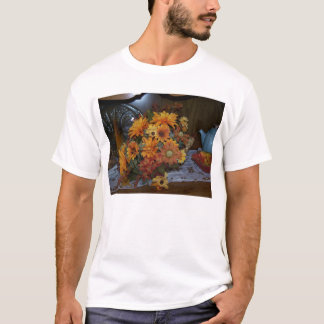 Chifre floral da abundância t-shirt