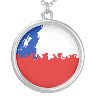 Chile Gnarly Flag Personalized Necklace