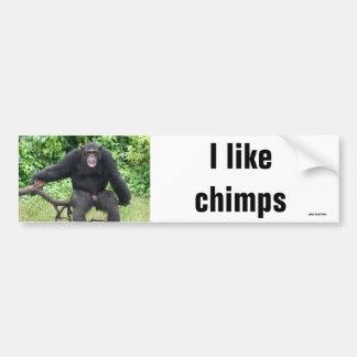 Chimpanzé em África Adesivo Para Carro