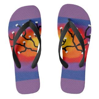 chinelos coloridos
