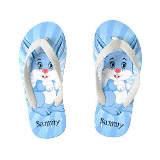 Chinelos Infantis Desenhos animados azuis bonitos do coelho