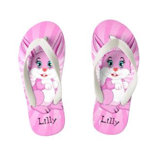 Chinelos Infantis Desenhos animados cor-de-rosa bonitos do coelho