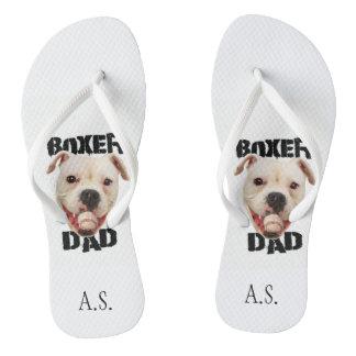 Chinelos Monogrammed do pai do cão do pugilista