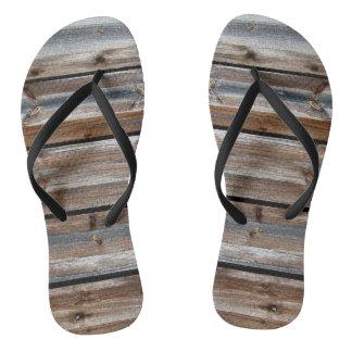 Chinelos Textura de madeira original legal