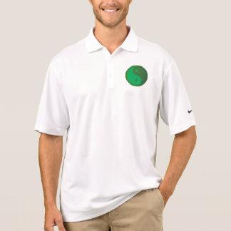 Chinês do equilíbrio YIN YANG do verde do Camisa Polo