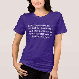 chique do geek camisetas