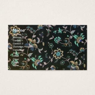 Chique floral cartão de visitas
