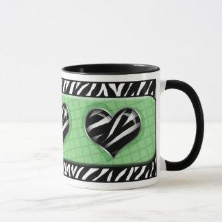 Chique minha caneca do impressão da zebra do verde