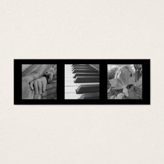 Chiques modernos pretos pequeno extra da foto 3 ou cartão de visitas mini