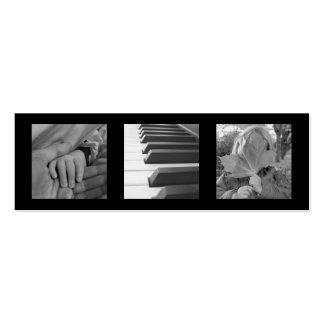 Chiques modernos pretos pequeno extra da foto 3 ou modelos cartoes de visita