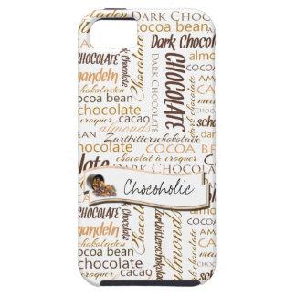 Chocolate, amêndoas e design de texto escuro do capas para iPhone 5