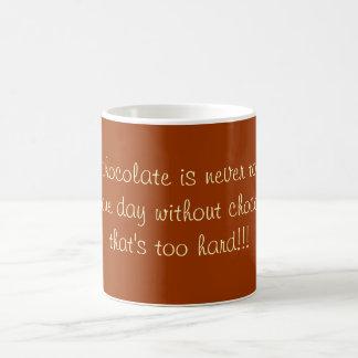 chocolate caneca de café